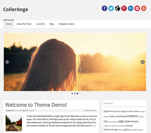 CollerAnge Blog Personal Template