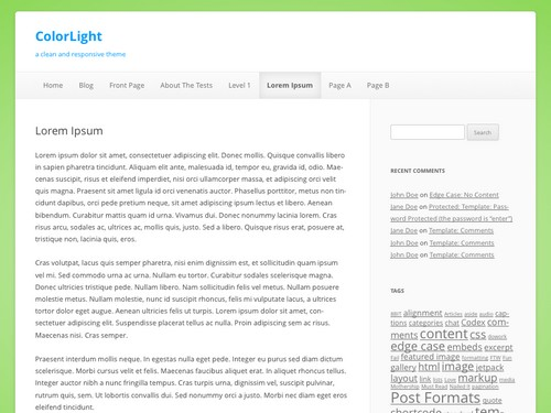 ColorLight WordPress Free Template
