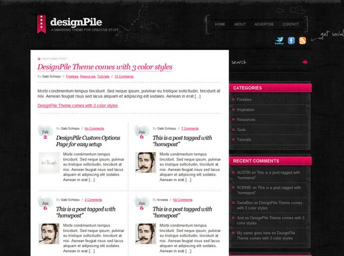 Designpile 3 Color Styles Template