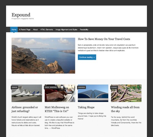 Expound Free Blog Theme