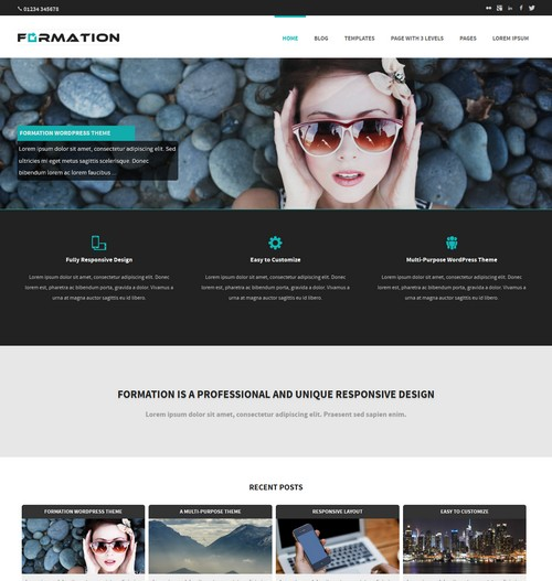 Free Formation WP Theme