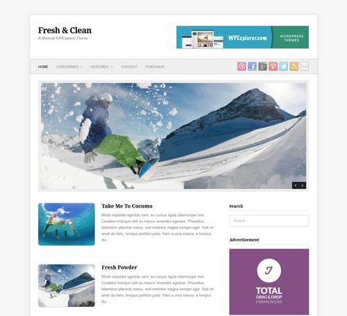 Fresh Clean WordPress Template