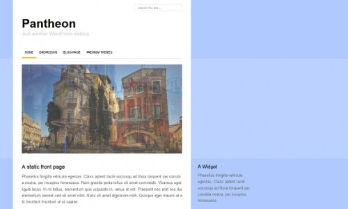 Pantheon Free Blog Template