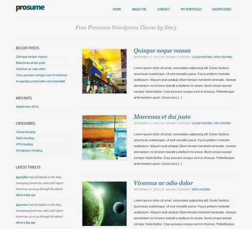 Prosume Blog Theme
