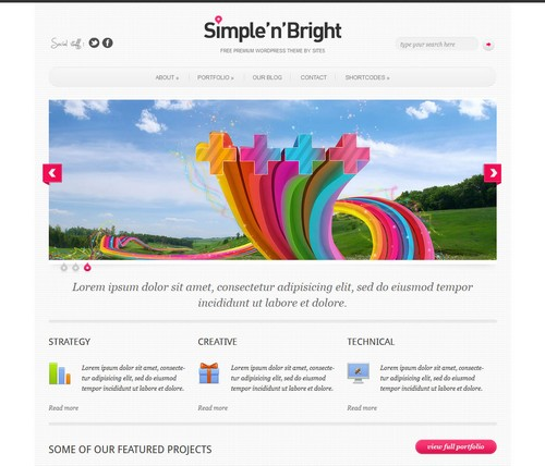 Simple n Bright WordPress Template