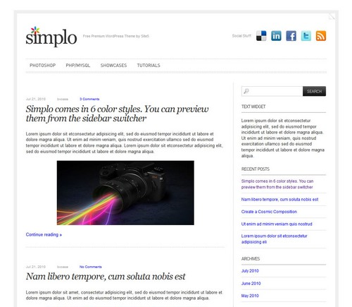 Simplo WordPress Free Template