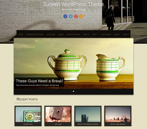 Sixteen WordPress Theme