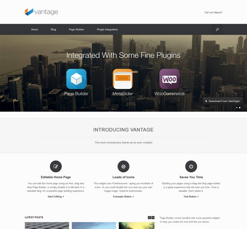 Vantage Blog WordPress Theme