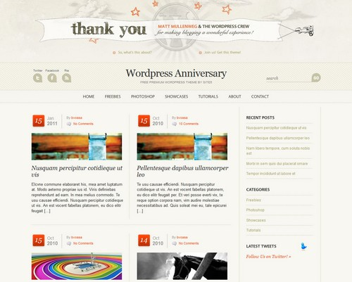 WP Anniversary WordPress Theme