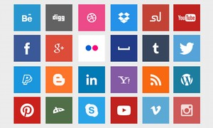 Cool Social Network Button Sets for Web Designers